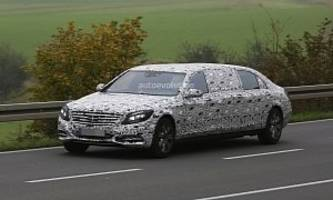 2016 Mercedes-Benz S 600 Pullman Spied Getting Closer to Production [Photo Gallery]