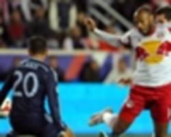 New York Red Bulls 2-1 Sporting Kansas City: Wright-Phillips scores two late goals to lead Red Bulls to playoff win
